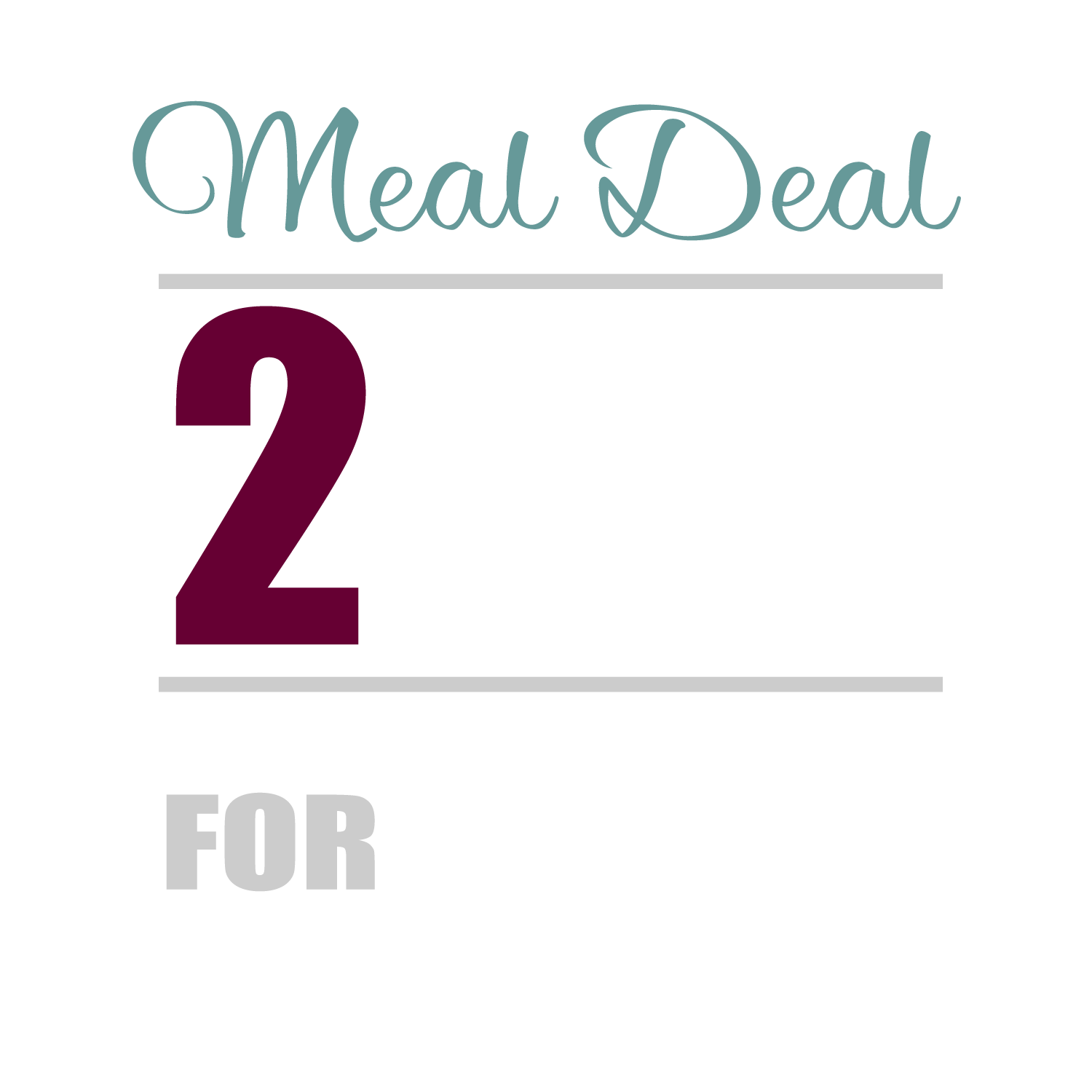 Two Meals For £15 (Banner)